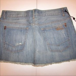 NEW w/Tag-Junior's VANS Denim Cutoff Skirt 13